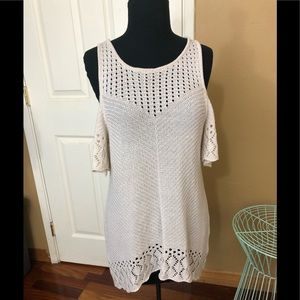 Lauren Conrad knitted top with cold shoulders